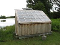 The solar kiln.